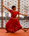 image of Indian dancer with arms open