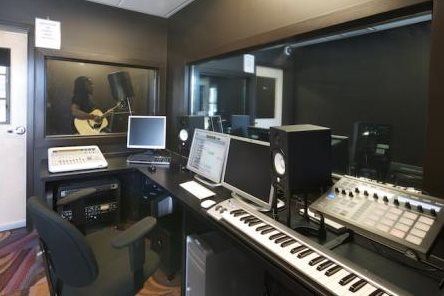 Image of the recording studio at The Malvern Spot
