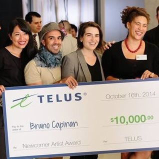 TELUS Newcomer Artist Award Reception, Bruno Capinan and TAF staff